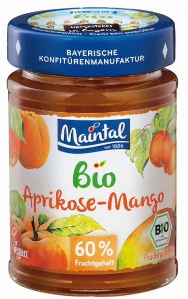 Bio + vegan Aprikosen-Mango Fruchtaufstrich - 210 g
