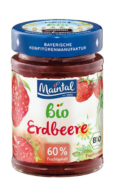 Bio + vegan Erdbeere Fruchtaufstrich 210 g