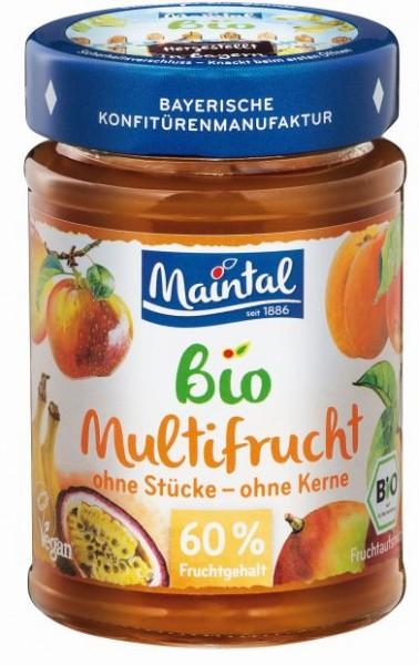 Bio + vegan Multifrucht, BIO Mehrfrucht Fruchtaufstrich, fein passiert, 210 g