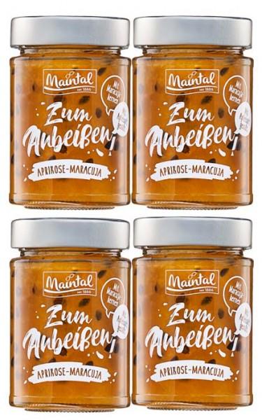 Aprikose-Maracuja-Fruchtaufstrich, 4er Set (4 x 200 g)
