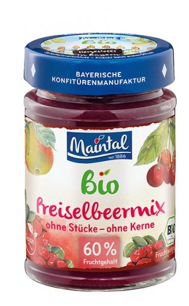 Bio + vegan Preiselbeer-Apfel-Sauerkirsch Fruchtaufstrich, fein passiert