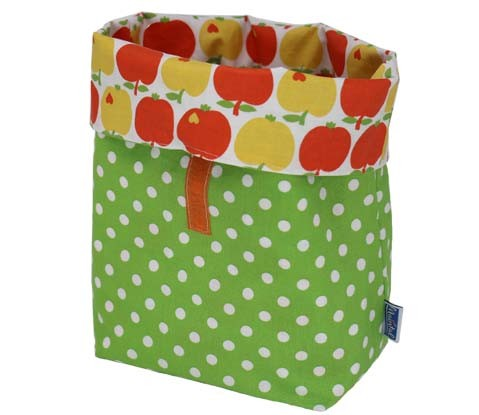 Lunchbag-Lunchtasche-Pausenbrottasche, hellgrün mit Punkten