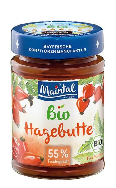 Bio + vegan Hagebutten-Fruchtaufstrich