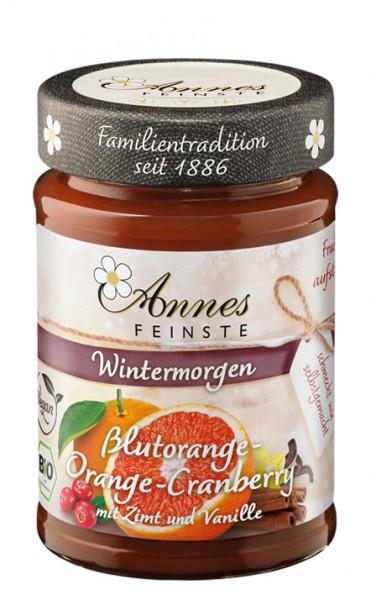Annes Feinste Bio Blutorange-Orange-Cranberry-Fruchtaufstrich mit Zimt und Vanille
