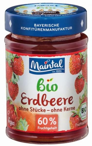 Bio + vegan Erdbeer-Fruchtaufstrich, fein passiert