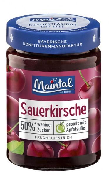 Sauerkirsch-Fruchtaufstrich, 50 % weniger Zucker