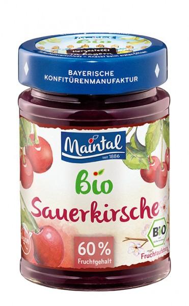Bio + vegan Sauerkirsch-Fruchtaufstrich