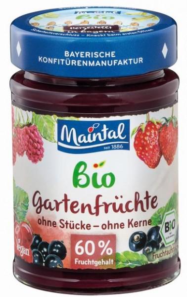 Bio + vegan Gartenfrüchte, BIO Mehrfrucht Fruchtaufstrich, fein passiert