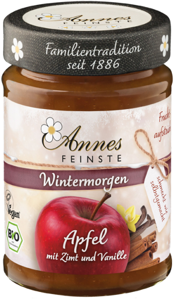 Annes Feinste Bio Apfel Fruchtaufstrich mit Zimt und Vanille