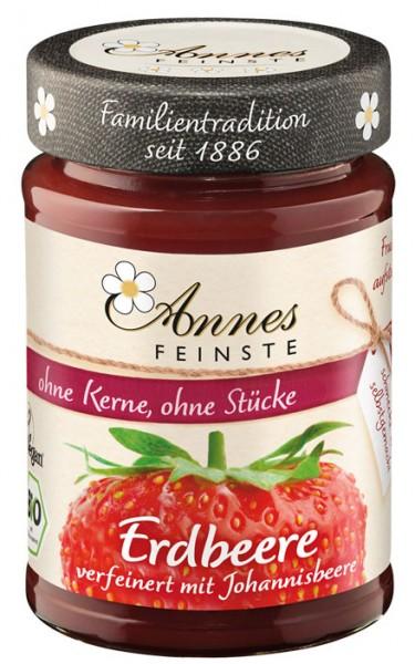 Annes Feinste Bio Erdbeere-rote Johannisbeere Fruchtaufstrich, fein passiert